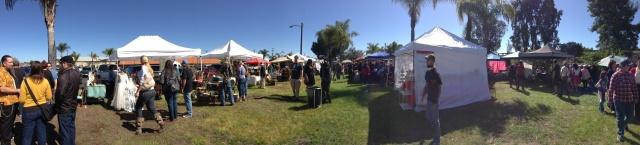 Panorama shot of the Flea market!