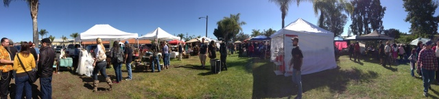 Panorama shot of the Flea market!